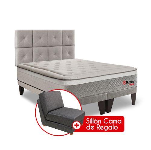 Dormitorio Europeo Nuvole Foam 2 plz + Sillón Cama - principal